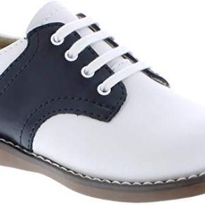 FootMates Unisex Cheer 3 (Infant/Toddler/Little Kid) White/Navy Oxford