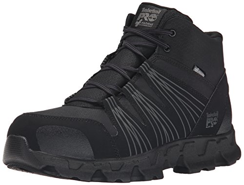 Timberland PRO Men's Powertrain Mid Alloy Toe ESD Industrial Hiking Boot