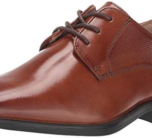 Florsheim Kids Boys' Potenza Jr. Plain Toe Oxford, Cognac
