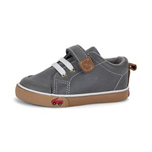 See Kai Run - Stevie II Sneakers for Kids, Gray Leather