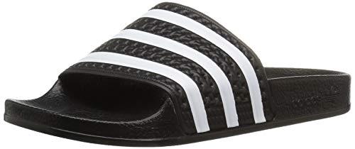 adidas Originals Kids' Adilette Sandal, Black/White/Black