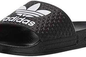 adidas Originals Adilette Sneaker, Black/White/Trefoil