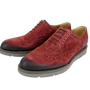 Gucci Oxford Red Suede Dress Shoes with Logo