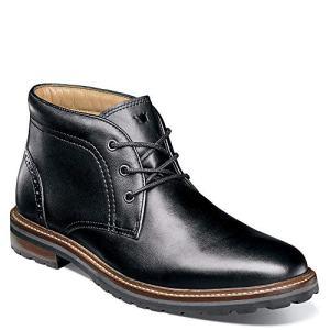 Florsheim Mens Estabrook Plain Toe Chukka Black Boot