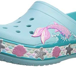 Crocs Kids' Fun Lab Mermaid Band Clog, Ice Blue