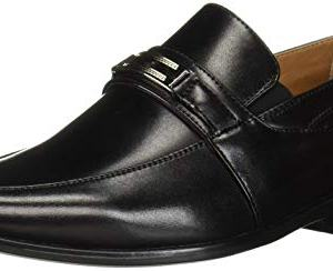 STACY ADAMS Unisex Shaw Moc Toe Bit Slip On Penny Loafer Black