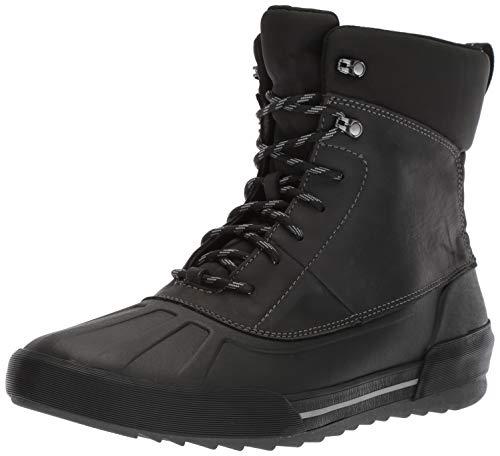 CLARKS Men's Bowman Peak Ankle Boot, Black Leather