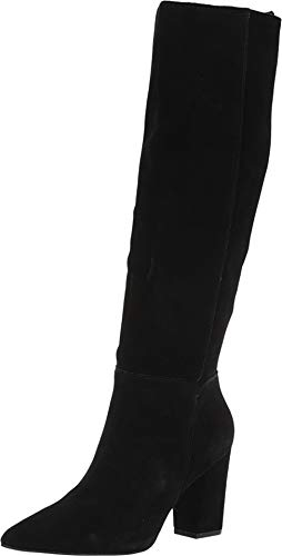 Steve Madden Women's Raddle to The Knee Boot Black Suede