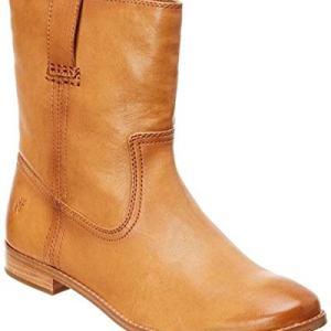 Frye Womens Anna Short Closed Toe Mid-Calf Cowboy Boots