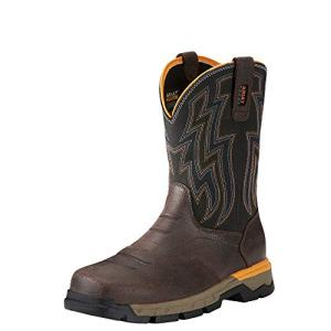ARIAT Men's Rebar Flex Western Work Boot Chocolate Brown