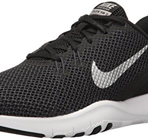 Nike Women's Flex Trainer Running Shoe, Black/Metallic Silver