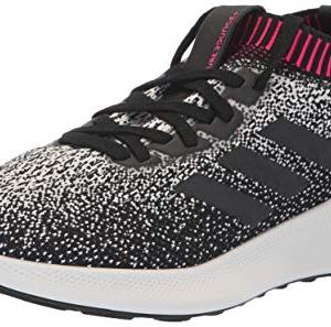 adidas Women's PureBounce+ Running Shoe, White/Black/Chalk Pearl
