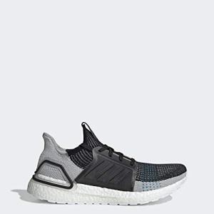adidas Men's Ultraboost 19 Running Shoe, black/grey six/shock cyan