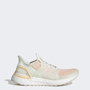 adidas Women's UltraBOOST Running Shoe, Off White/Off White/Glow Orange