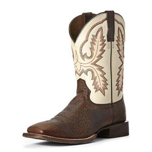 Ariat Men's Circuit Dayworker Western Boot, Banker Brown/Ivory
