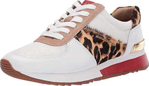 MICHAEL Michael Kors Allie Trainer Optic White/Natural Vachetta/Cheetah