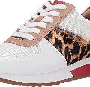 MICHAEL Michael Kors Allie Trainer Optic White/Natural Vachetta/Cheetah