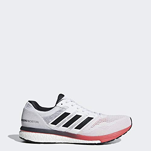 adidas Men's Adizero Boston 7, White/Carbon/Shock red