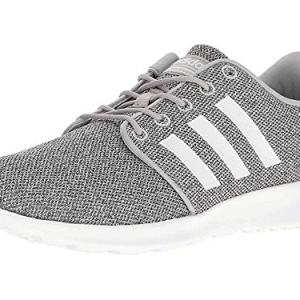 adidas Women's Cloudfoam QT Racer Running Shoe White/Clear Onix