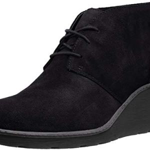 CLARKS Women's Hazen Charm Fashion Boot, Black Suede