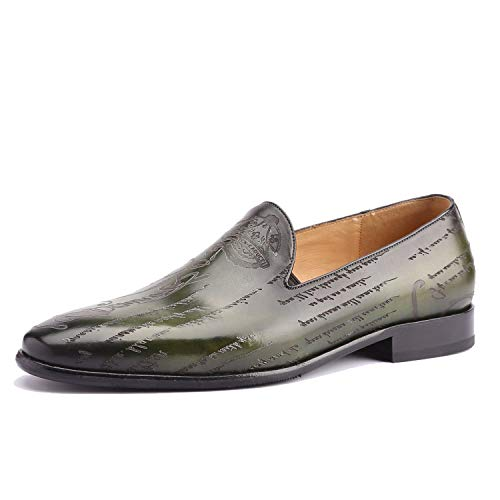 Loafer Shoes Men Genuine Leather Custom Luxury Office Formal Wedding Party