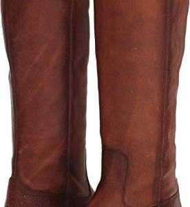 FRYE Women's Melissa Button Lug Tall Boot, Cognac