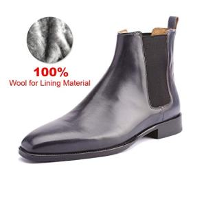 Chelsea Boots Men Genuine Leather Handmade Office Formal Wedding