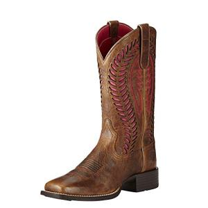 Ariat Women's Quickdraw Venttek Western Cowboy Boot, Barn Brown