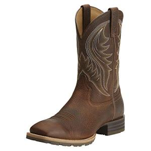 Ariat Men's Hybrid Rancher Western Boot, Brown Oiled Rowdy