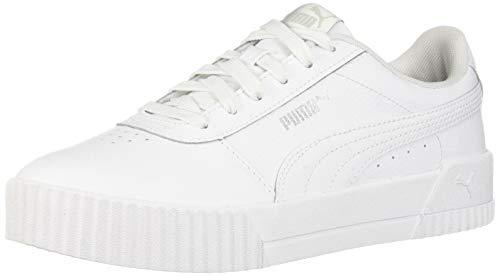 PUMA Women's Carina Sneaker, White White Silver