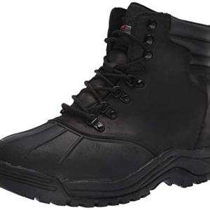Propet Men's Blizzard Mid Lace Snow Boot, Black