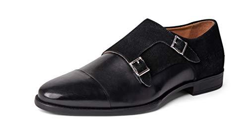 Carlos Santana Davis Men's Designer Double Strap Monk Dress Shoes