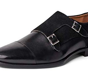 Carlos Santana Davis Men's Designer Double Strap Monk Dress Shoes