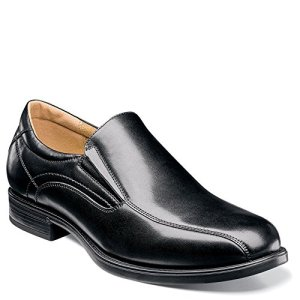 Florsheim Mens Midtown Bike Toe Slip On Black Slip-On