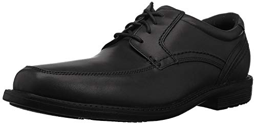 Rockport Men's Style Crew Apron Toe Oxford, black