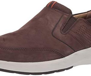 CLARKS Men's Un Trail Step Loafer, Brown Nubuck