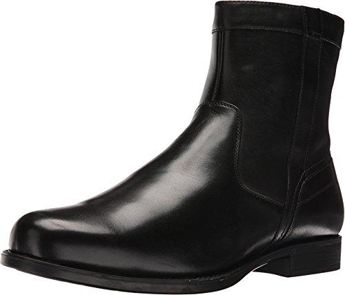 Florsheim Men's Midtown Plain Toe Zip Boot Black Smooth