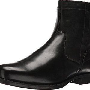 Florsheim Men's Midtown Plain Toe Zip Boot Black Smooth