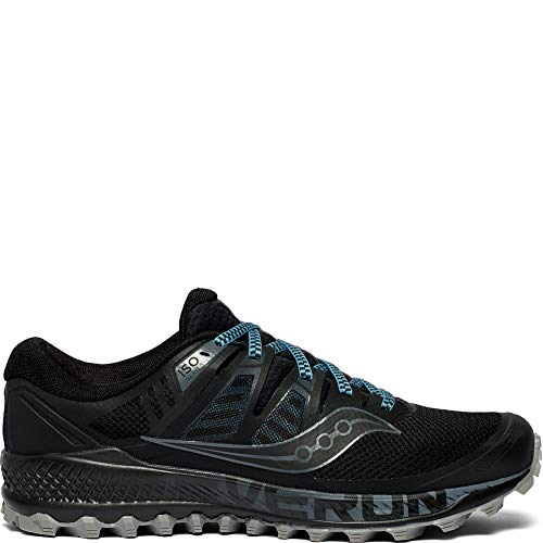 Saucony Men's Peregrine ISO Trail Running Shoe, Black/Grey