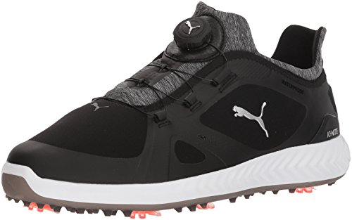 PUMA Golf Men's Ignite Pwradapt Disc Golf Shoe, Black/Black