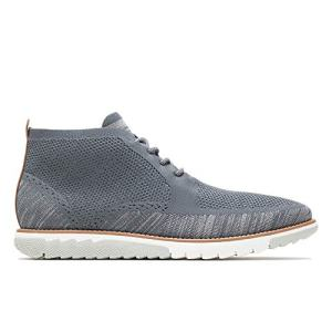 Hush Puppies Men's Expert Chukka Boot, Dark Grey Multi Knit