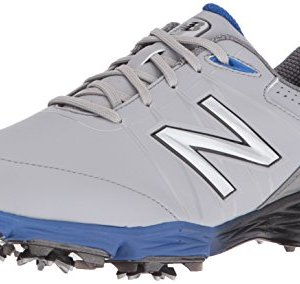 New Balance Men's Waterproof Spiked Comfort Golf Shoe, Grey/Blue