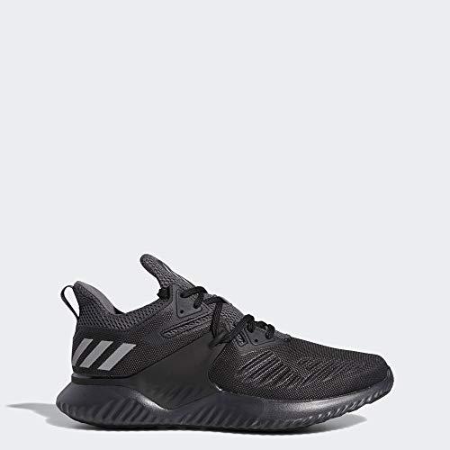 adidas Men's Alphabounce Beyond 2 Running Shoe, Black/Silver Metallic/Carbon