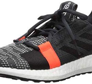 adidas Originals Men's SenseBOOST GO Running Shoe, Grey/Black/Solar Red