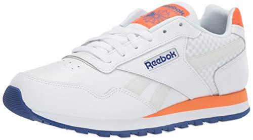 Reebok Men's Classic Harman Run Shoe, White/Cobalt/Orange/Grey