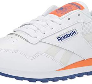 Reebok Men's Classic Harman Run Shoe, White/Cobalt/Orange/Grey