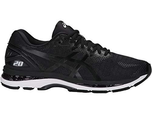 ASICS Men's Gel-Nimbus 20 Running Shoe, black/white/carbon