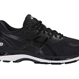 ASICS Men's Gel-Nimbus 20 Running Shoe, black/white/carbon