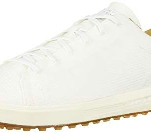 adidas Men's Adipure SP Knit Golf Shoe, FTWR White/Cyber Metallic/Gum