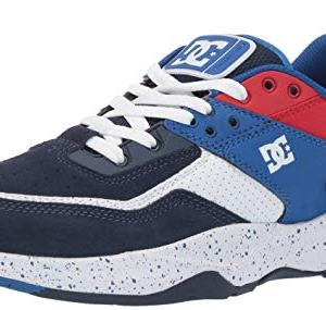 DC Men's E.TRIBEKA SE Skate Shoe, Black/Blue/red